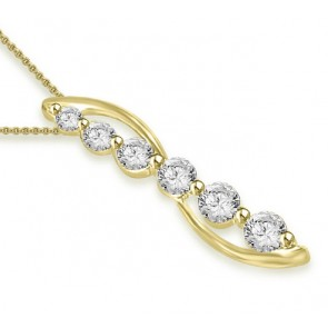 0.45ct SI1-2 Fashion Pendant Necklace Unique  Real Diamond Jewelry 14K Solid Gold