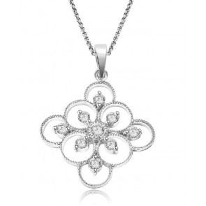 0.80ct SI1-2 New14Kt Solid Gold  Genuine Diamond Jewelry Fashion Pendant Necklace