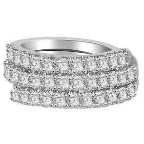 1.01Ctw VS Right Hang 18KT Engagement Wedding Diamond Ring