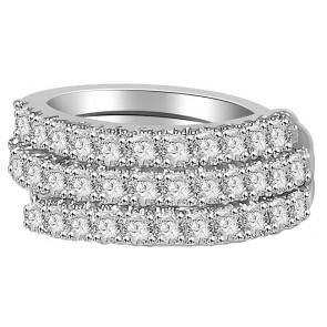 1.01Ctw VS Right Hang 18KT Engagement Wedding Diamond Ring