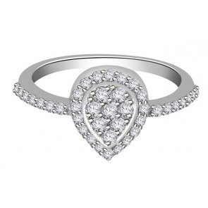 0.55Ct SI1-2   Natural Diamond 18Kt Jewelry Right Hand Engagement Ring