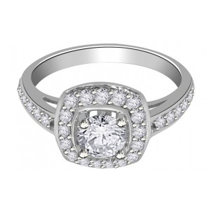 1.10Ct  SI1-2 18Kt Gold Prong Set Solitaire Engagement Wedding Ring Band