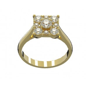 0.50 SI1-2 Diamond 18k solitaire Engagement Ring Band Size 4-10