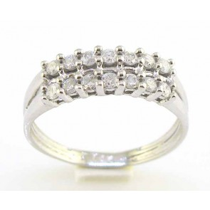 0.35ct SI1-2 Anniversary Ring Band Round Cut Diamond Jewelry 18Kt Solid Gold