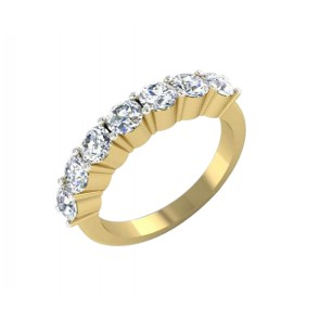 1.01Ct  SI1-2 Not Enhanced Diamond 18Kt Solid Gold Excellent Enaggement Ring Band