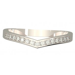 0.25 VS Diamond engagement 18k wedding ring band