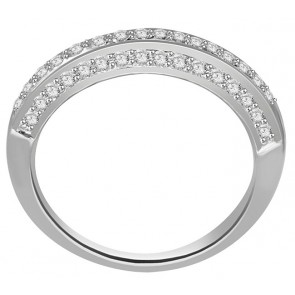 0.65ct SI1-2 Engagement Anniversary Ring Band White Gold Natural Diamond Jewelry