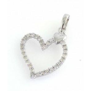Round Cut Diamond 0.70ct VS 18K gold Heart Pendant Necklace