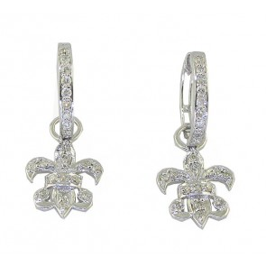 0.70Ct SI1-2 Round Cut Diamond 14K Solid Gold Dangle Chandelier Earrings