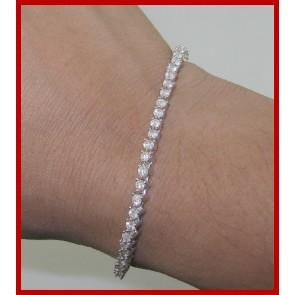 3.25ct SI1-2 Beautiful Tennis Bracelet Vintage Real Diamond Jewelry 14K Gold