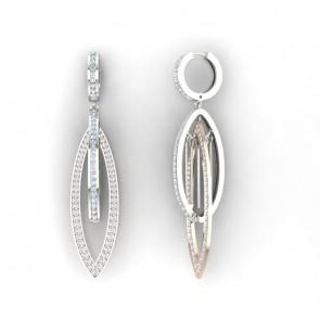 1.25ct SI1-2 Diamond 14Kt Gold Dangle Chandelier Earrings Appraisal