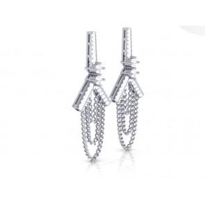 SI1-2 1.10Ct Not Enhanced Diamond Solid Gold Designer Dangle Chandelier Earrings