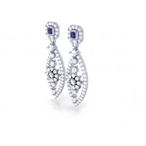 Dangle Chandelier Earrings SI1-2 Huge 2.50 Ct Round Diamond Solid Gold Appraisal
