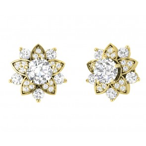 2.30ct SI1-2 Excellent Solitaire Studs Earrings Round Diamond Jewelry 14Kt Gold