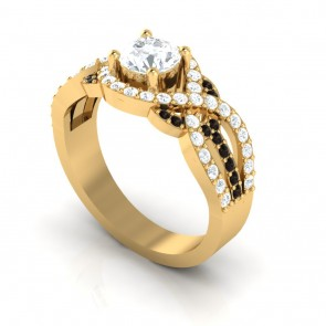 Solitaire Engagement Ring Band S1-2 1.30Ct Not Enhanced Diamond Jewelry 18K Gold