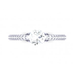 SI1-2 Huge 2.75 Ct Diamond 18Kt Solid Gold Solitaire Wedding Ring Band Appraisal