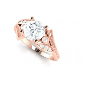 SI1-2 1.15TCW Natural Diamond 18Kt Gold Excellent Solitaire Ring Engagement Band