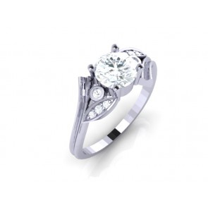 1.15ct SI1-2 Natural Diamond 18Kt Gold Excellent Solitaire Ring Engagement Band