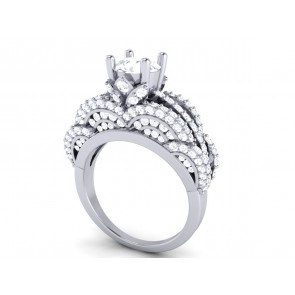 SI1-2 Huge 3.00 Ct Real Diamond Jewelry 18Kt Gold Solitaire Ring Engagement Band