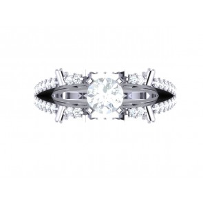 SI1-2 1.80Ct Not Enhanced Diamond 18Kt Solid Gold Solitaire Ring Engagement Band