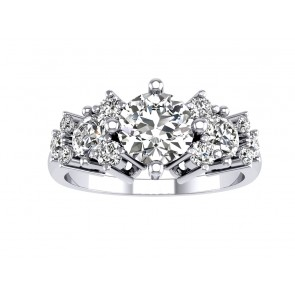 1.35Ct SI1-2  Real Diamond Jewelry 18K Solid Gold Solitaire Anniversary Ring Band