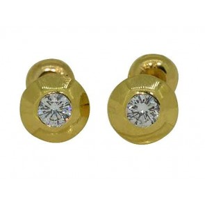 0.40ct  SI1-2 Solitaire Stud Earrings R ound Diamond Jewelry Yellow Gold