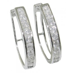 1.80Ct SI1-2 Round Diamond Jewelry 14Kt Gold Hoop Huggies Earrings Appraisal