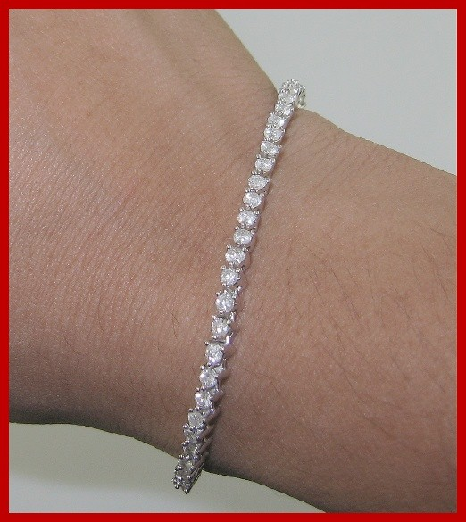 3 25ct SI1 2 Beautiful Tennis Bracelet Vintage Real Diamond