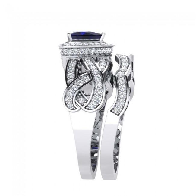 2 0 75 Ct Real Diamond Solid Gold Engagement Bridal Ring Set Band